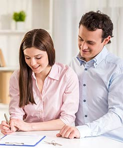 Couple Filling Loan Application